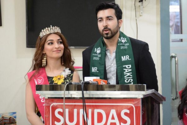 Kevaan Hasnain, Mr. Pakistan World 2020 along with Miss Paksitan World 2020 Areej Chaudhary